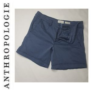 Anthropologie 27 Relaxed Chino Shorts Bermuda B
